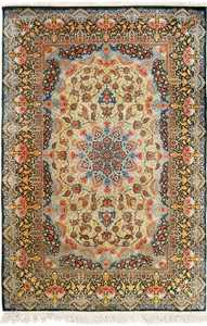 silk vintage qum persian rug 51171 Nazmiyal