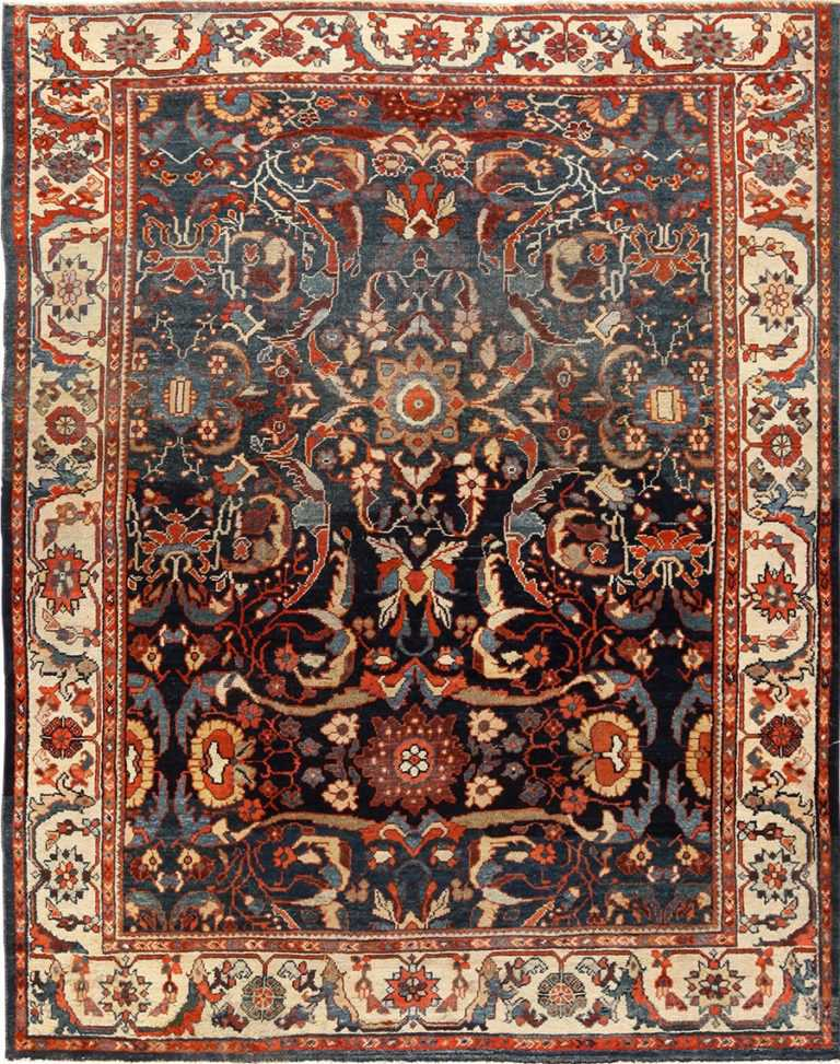 small size antique sultanabad persian rug 49301 Nazmiyal