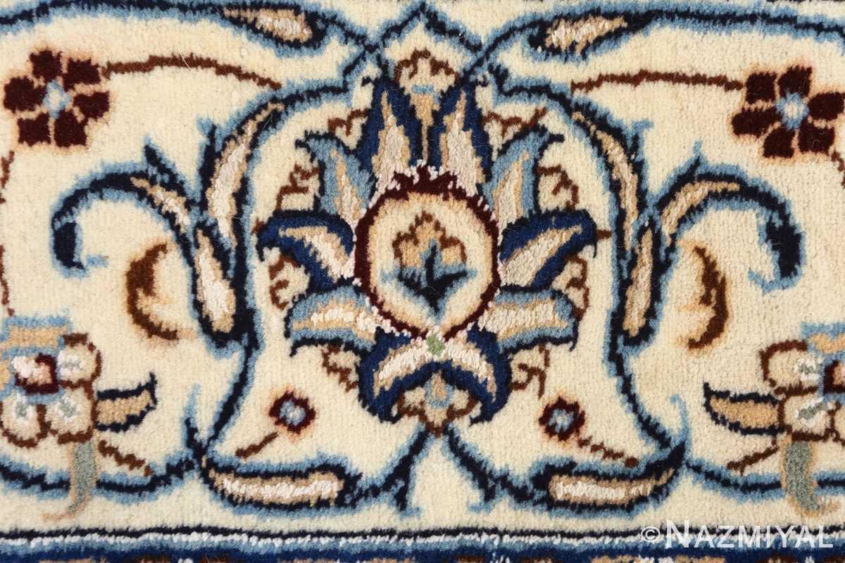 animal motif vintage nain persian rug 51164 closeup Nazmiyal