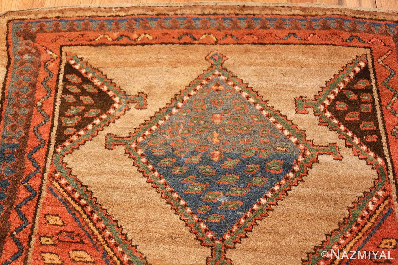 antique tribal kurdish persian rug runner 49275 blue Nazmiyal