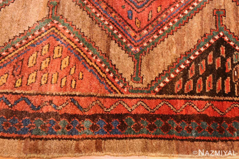 antique tribal kurdish persian rug runner 49275 border Nazmiyal