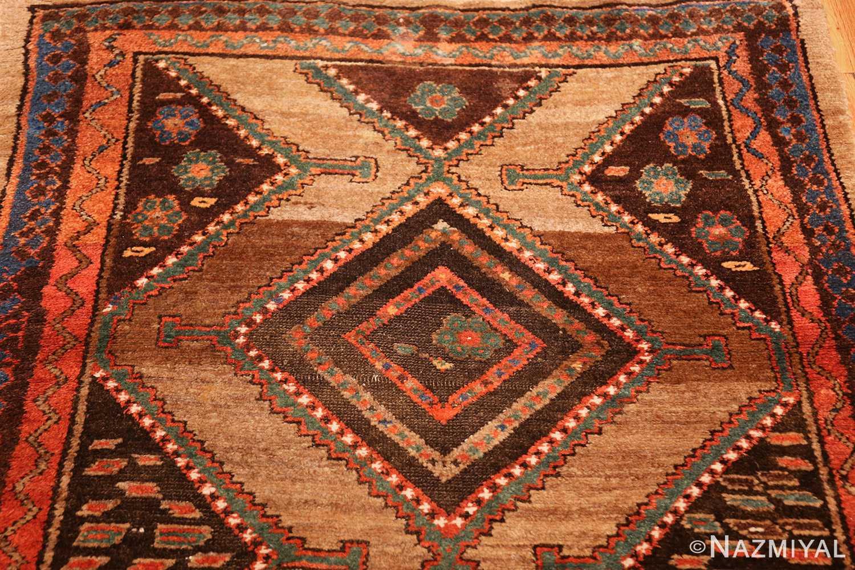 antique tribal kurdish persian rug runner 49275 brown Nazmiyal