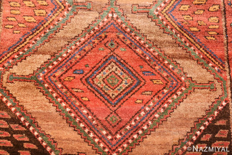 antique tribal kurdish persian rug runner 49275 red Nazmiyal