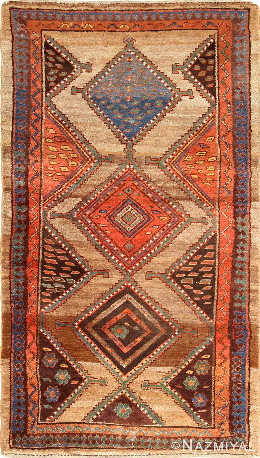 antique tribal kurdish persian rug runner 49275 Nazmiyal
