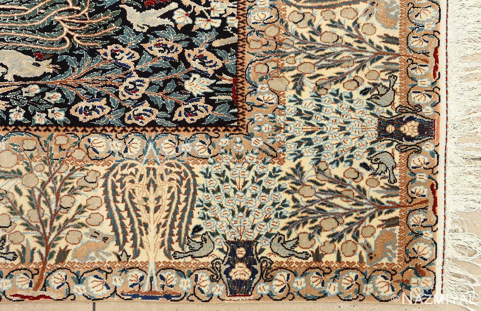 Animal Motif Vintage Nain Persian Rug 51159 Nazmiyal