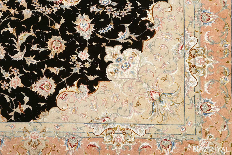 black background vintage tabriz persian rug 51160 design Nazmiyal