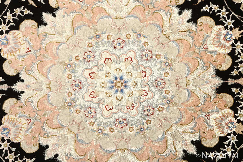 black background vintage tabriz persian rug 51160 middle Nazmiyal