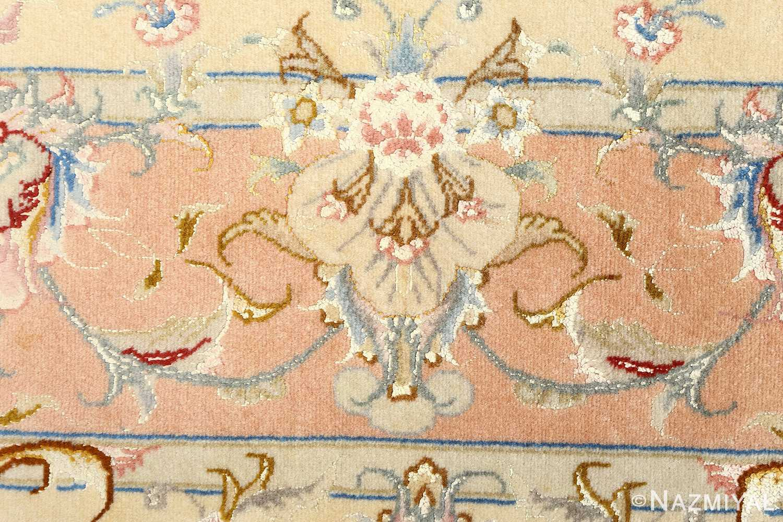 black background vintage tabriz persian rug 51160 weave Nazmiyal