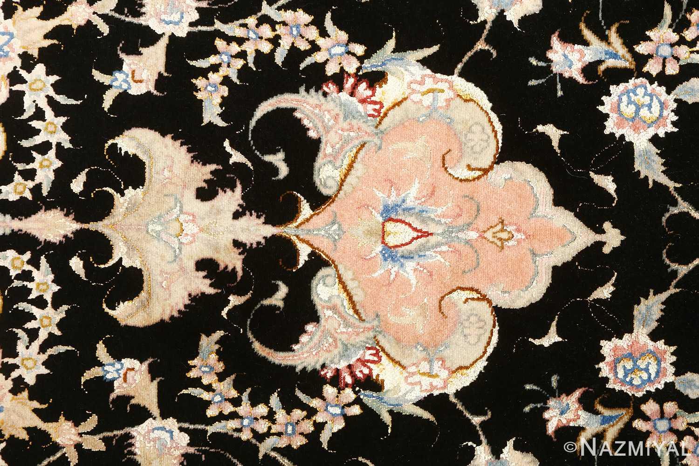 black background vintage tabriz persian rug 51160 tiara Nazmiyal