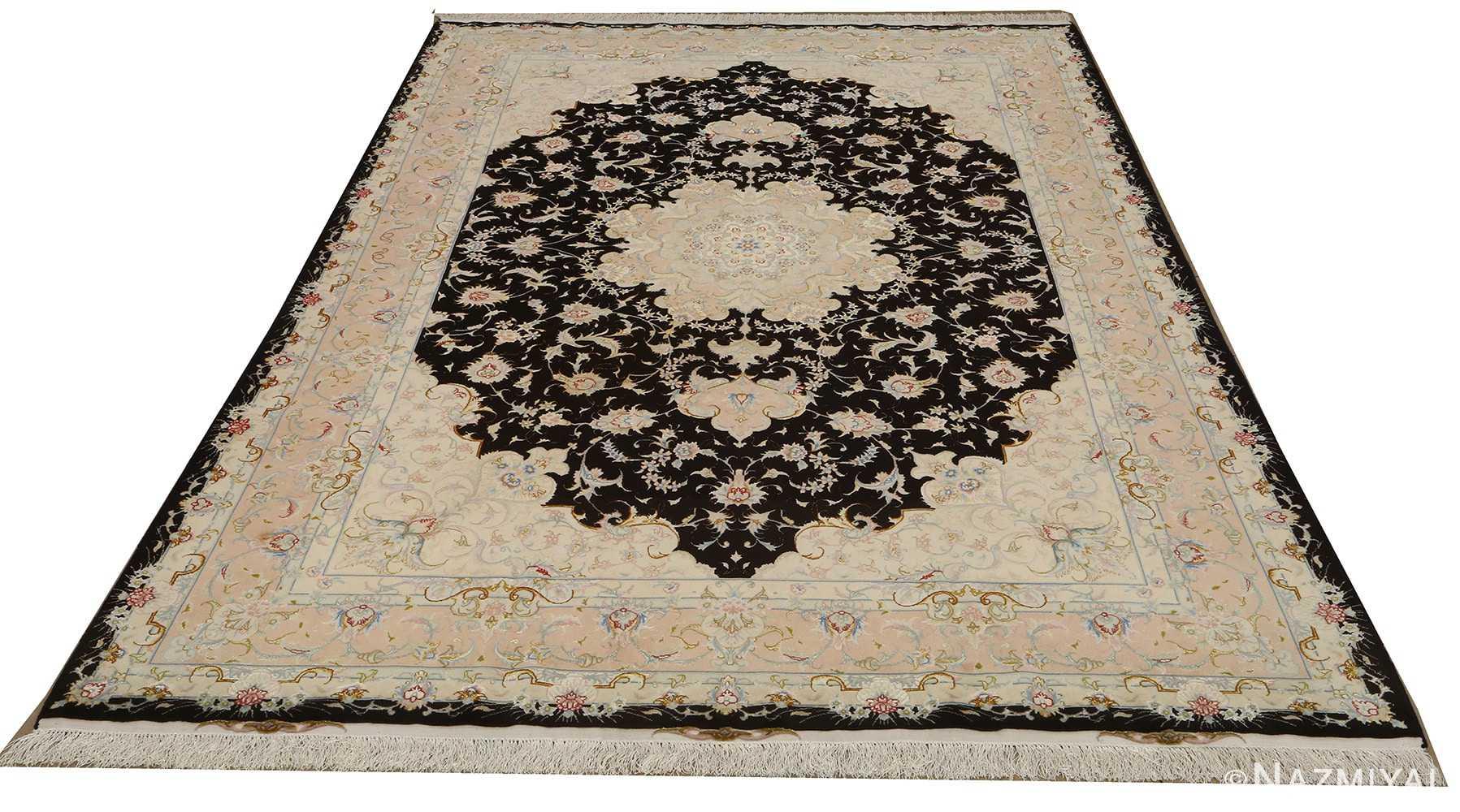 black background vintage tabriz persian rug 51160 whole Nazmiyal