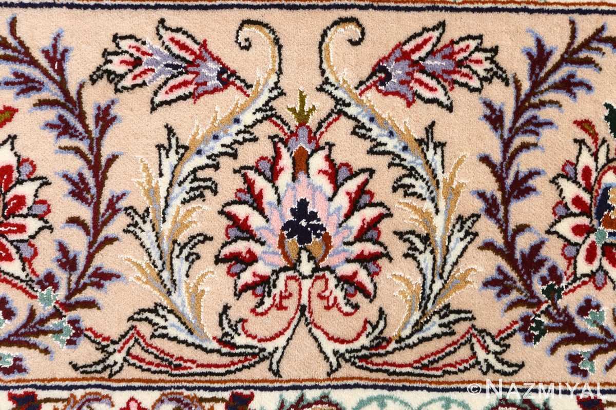 blue background vintage isfahan persian rug 51146 bush Nazmiyal