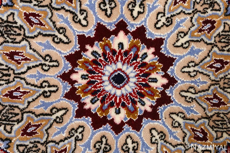 blue background vintage isfahan persian rug 51146 center Nazmiyal