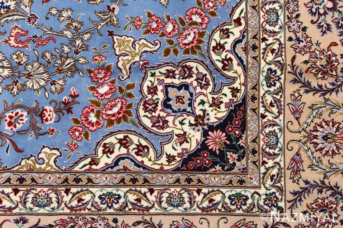 blue background vintage isfahan persian rug 51146 design Nazmiyal
