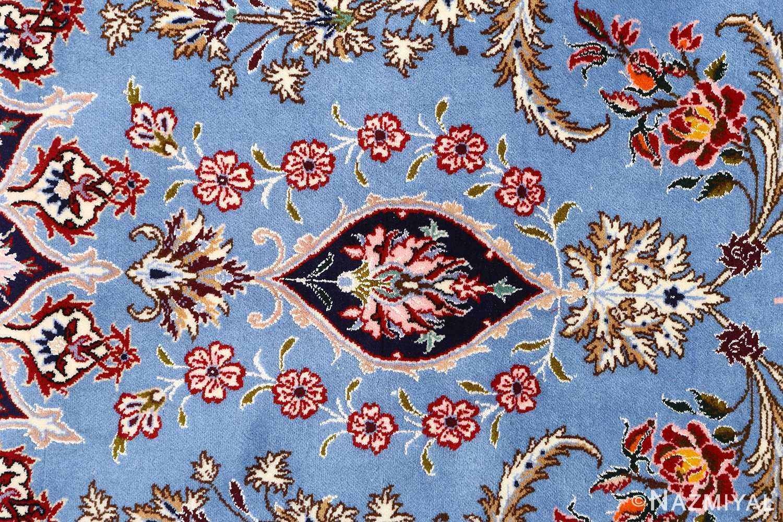 blue background vintage isfahan persian rug 51146 tiara Nazmiyal