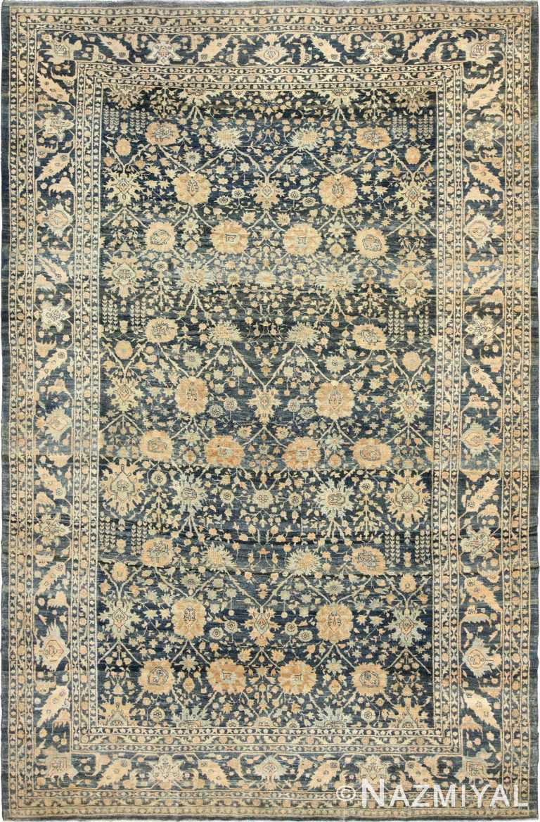 dark background antique tabriz persian rug 49244 Nazmiyal