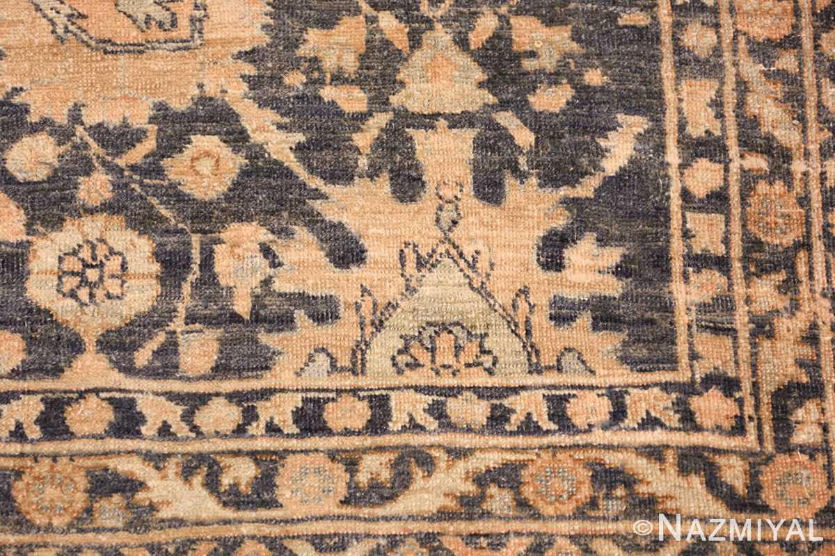 dark ackground antique tabriz persian rug 49244 design Nazmiyal