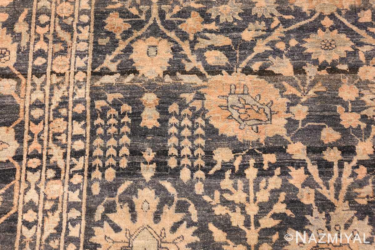 dark background antique tabriz persian rug 49244 side Nazmiyal