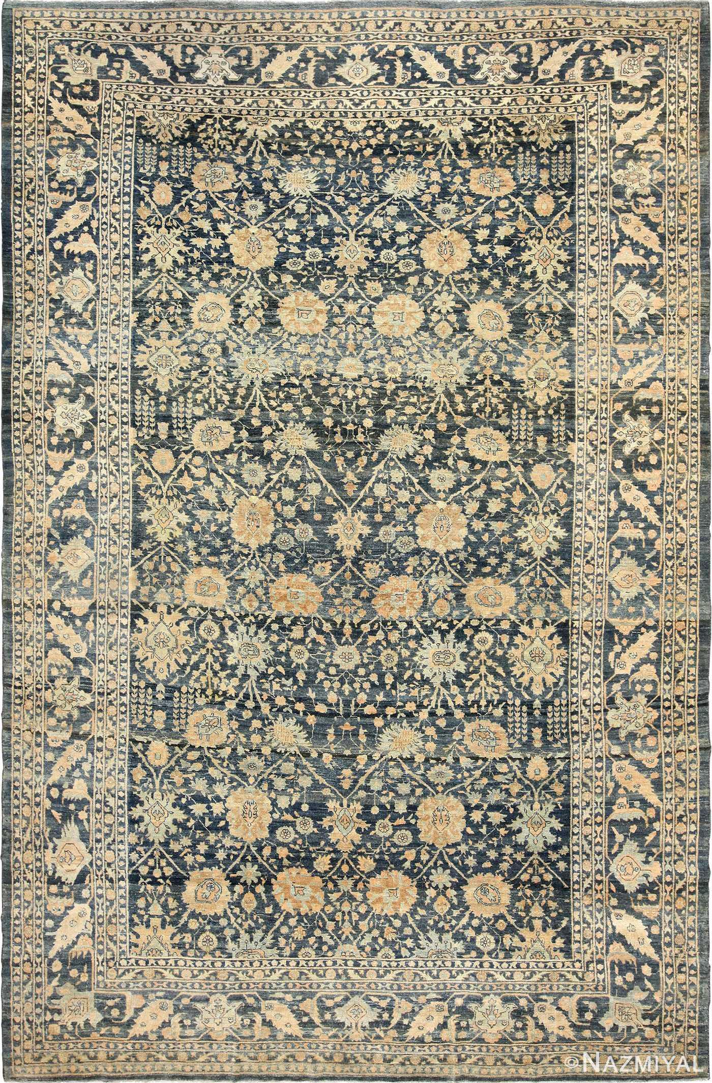 dark background antique tabriz persian rug 49244 Nazmiyal