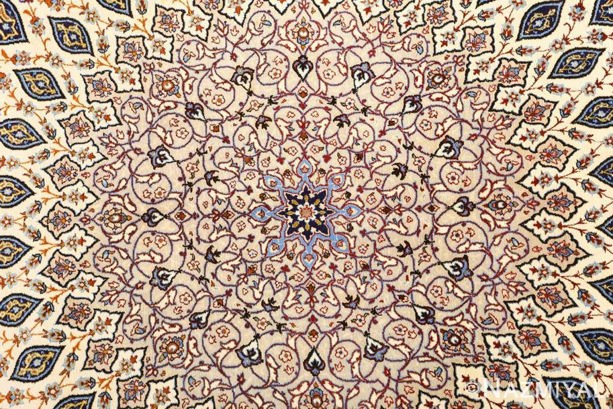 geometric vintage isfahan persian rug 51166 center Nazmiyal