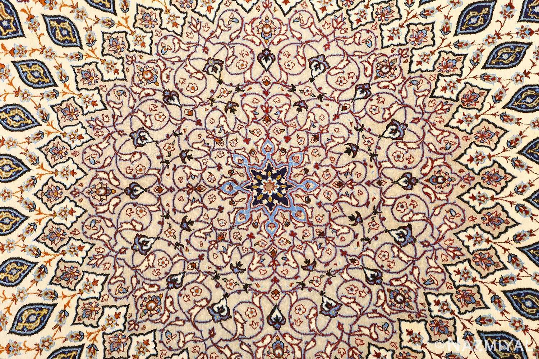 geometric vintage isfahan persian rug 51166 center Nazmiyal