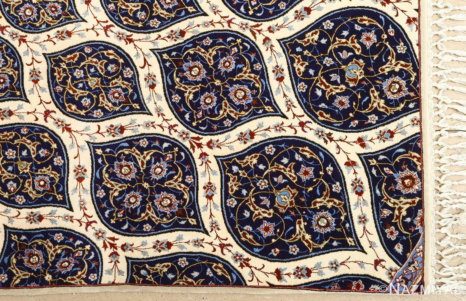 geometric vintage isfahan persian rug 51166 pattern Nazmiyal