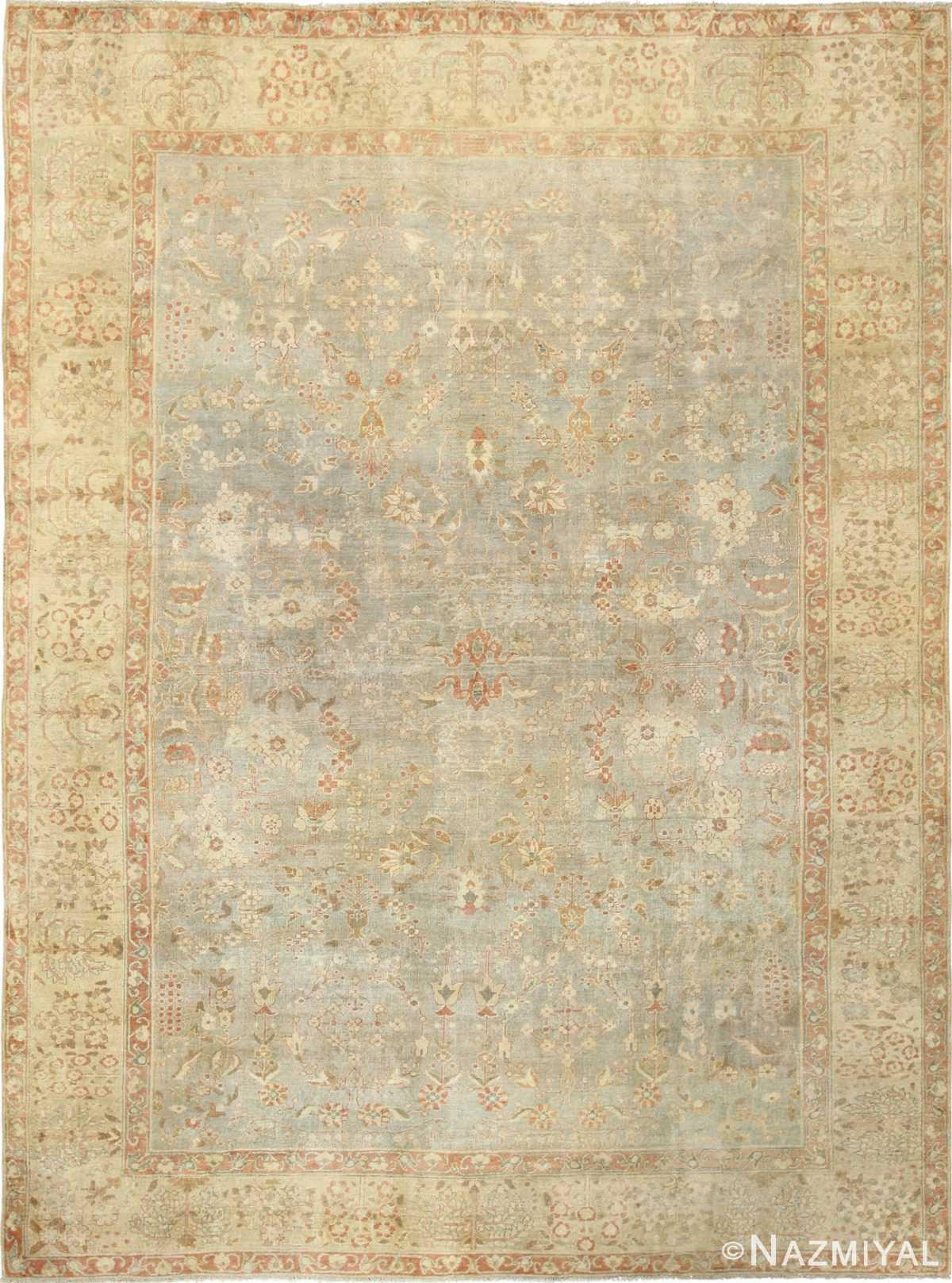 gray background antique agra indian rug 49084 Nazmiyal