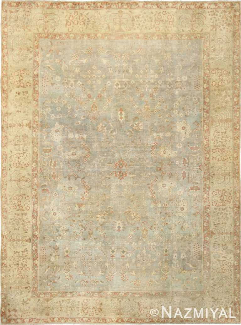 gray background antique agra indian rug 49084 Nazmiyal