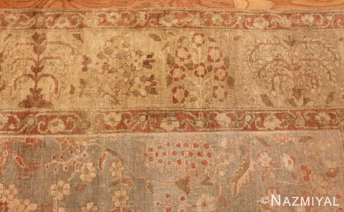 gray background antique agra indian rug 49084 border Nazmiyal