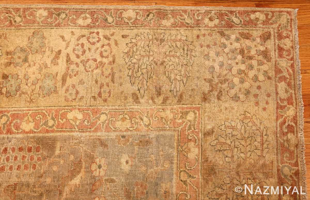 gray background antique agra indian rug 49084 corner Nazmiyal