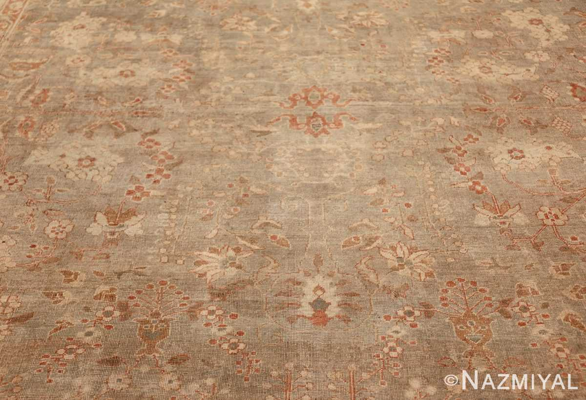 gray background antique agra indian rug 49084 field Nazmiyal