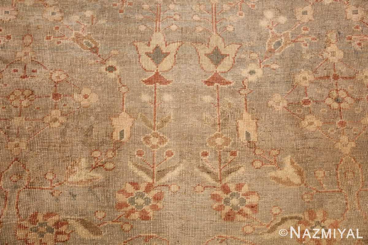 gray background antique agra indian rug 49084 flowers Nazmiyal
