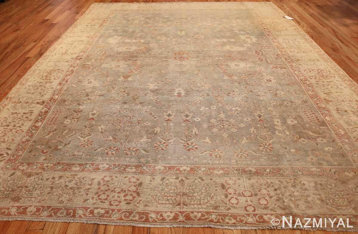 gray background antique agra indian rug 49084 whole Nazmiyal