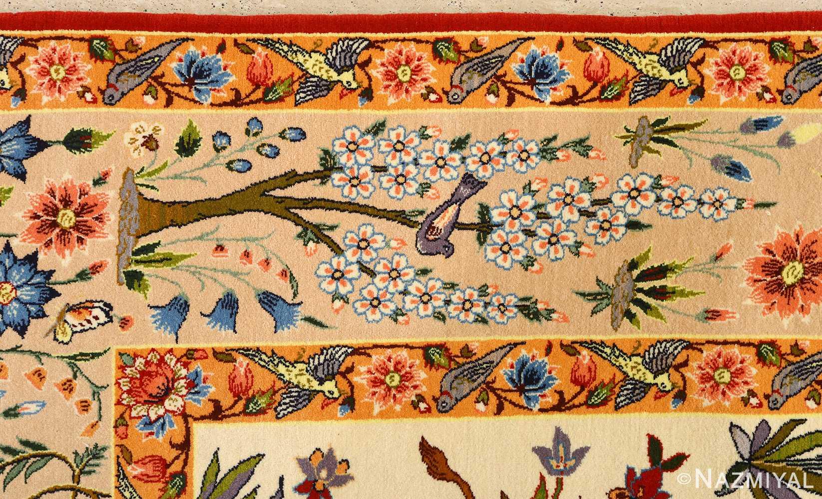 huntig scene vintage isfahan persian rug 51169 border Nazmiyal