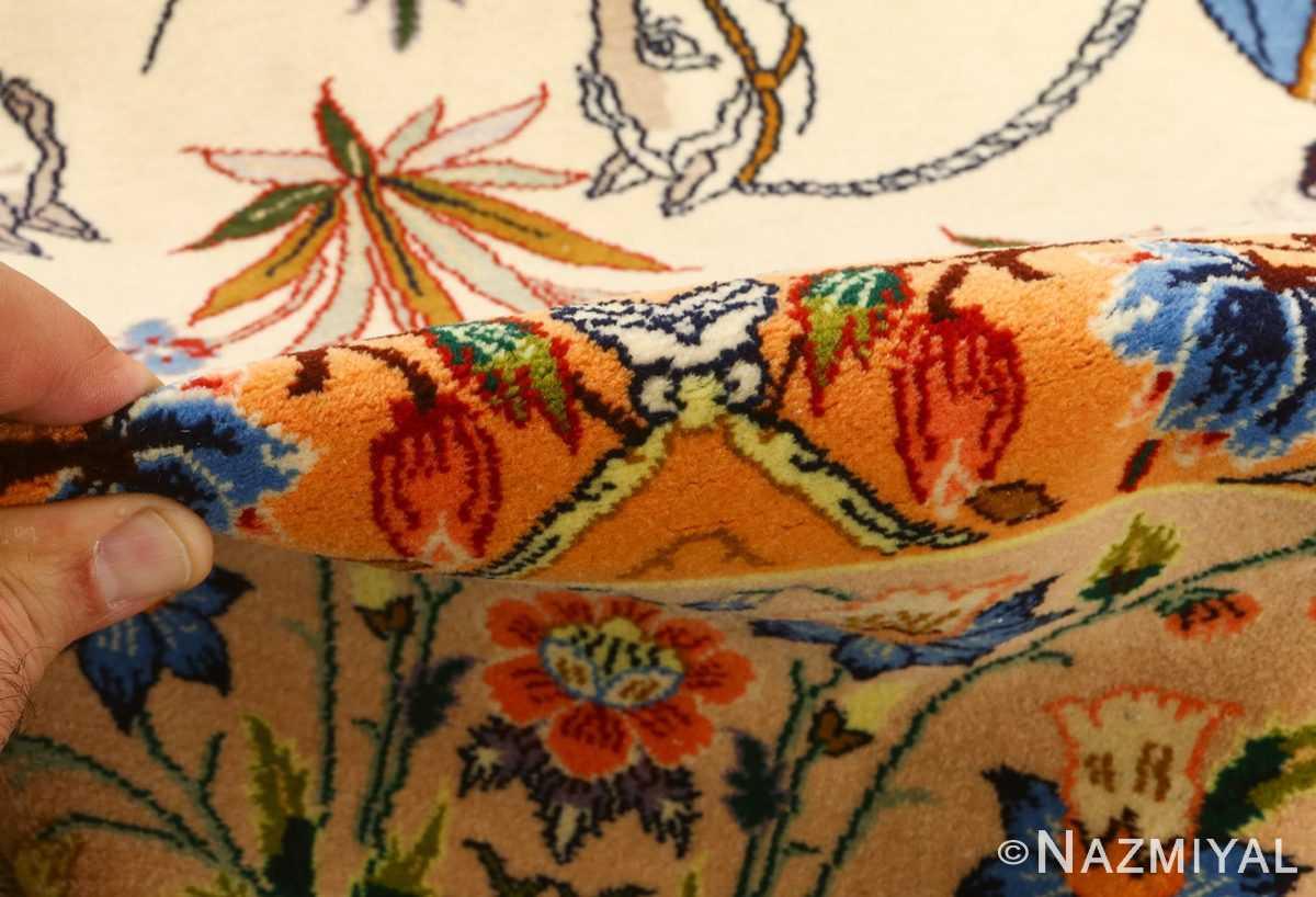 huntig scene vintage isfahan persian rug 51169 pile Nazmiyal