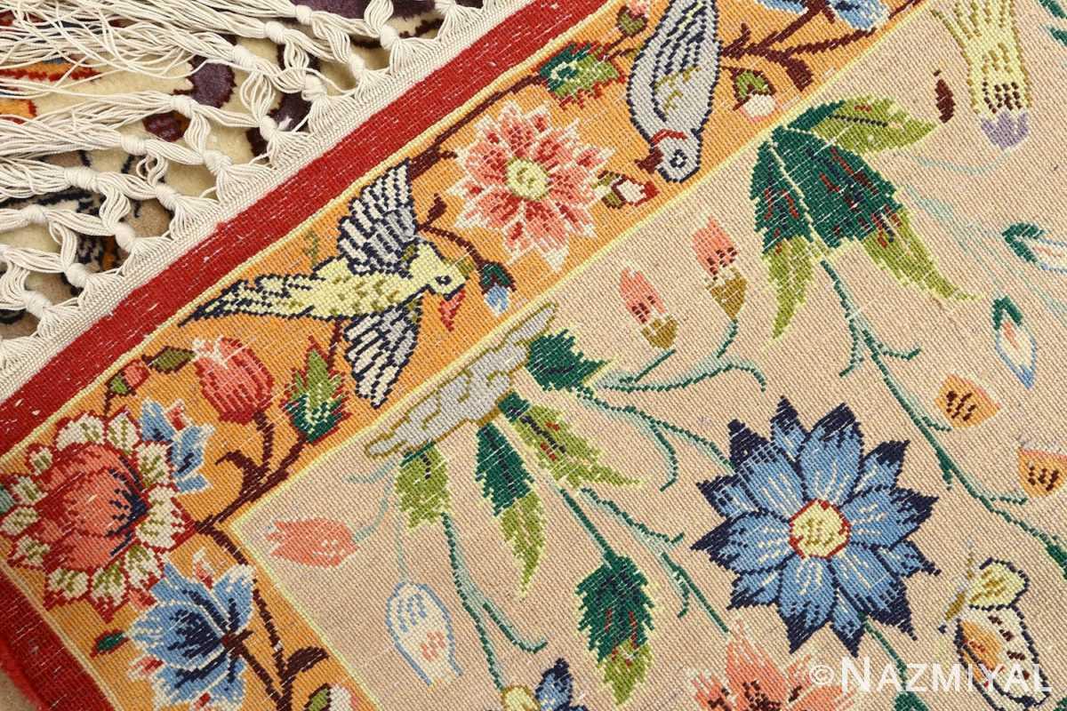 huntig scene vintage isfahan persian rug 51169 weave Nazmiyal