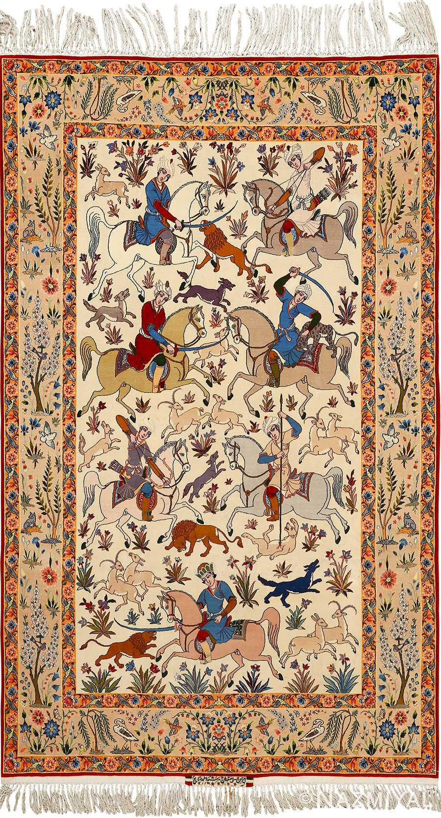 Intricate Vintage Isfahan Persian Rug 51169 By Nazmiyal