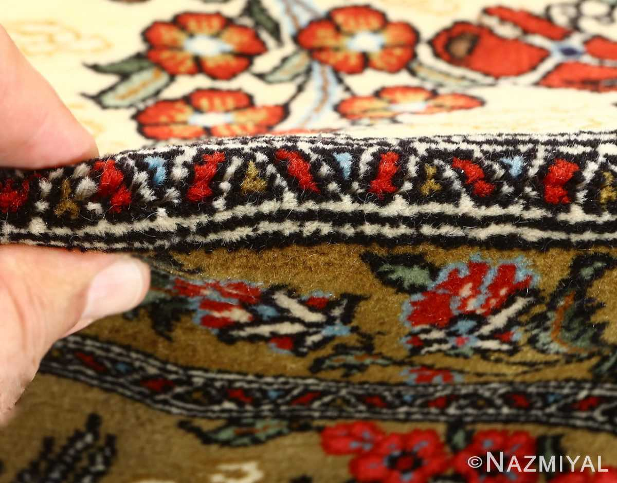 hunting scene vintage qum persian rug 51170 pile Nazmiyal