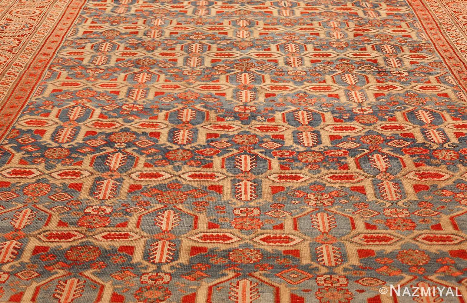 large blue background antique bakshaish persian rug 49299 field Nazmiyal