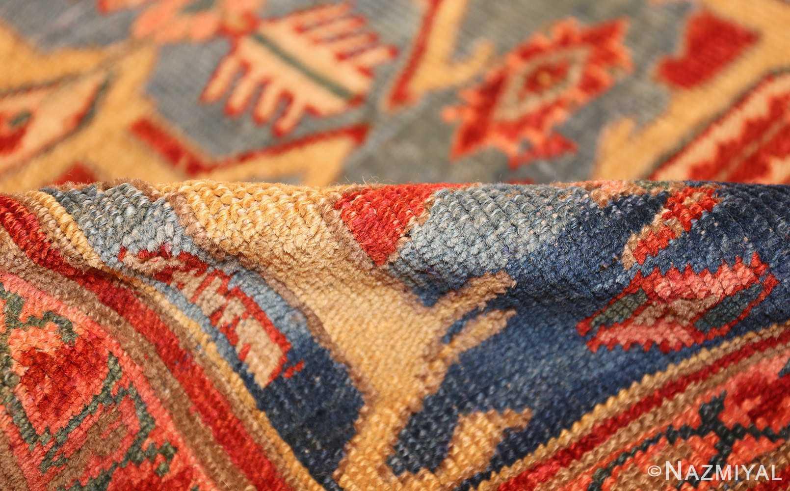 large blue background antique bakshaish persian rug 49299 pile Nazmiyal