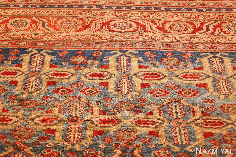 large blue background antique bakshaish persian rug 49299 top Nazmiyal