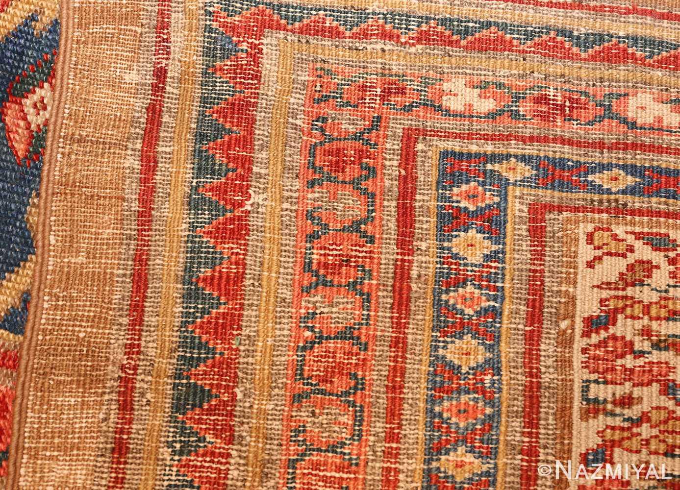 large blue background antique bakshaish persian rug 49299 weave Nazmiyal