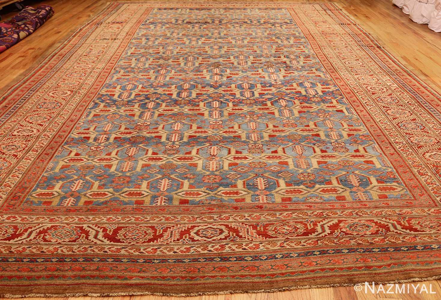 large blue background antique bakshaish persian rug 49299 whole Nazmiyal