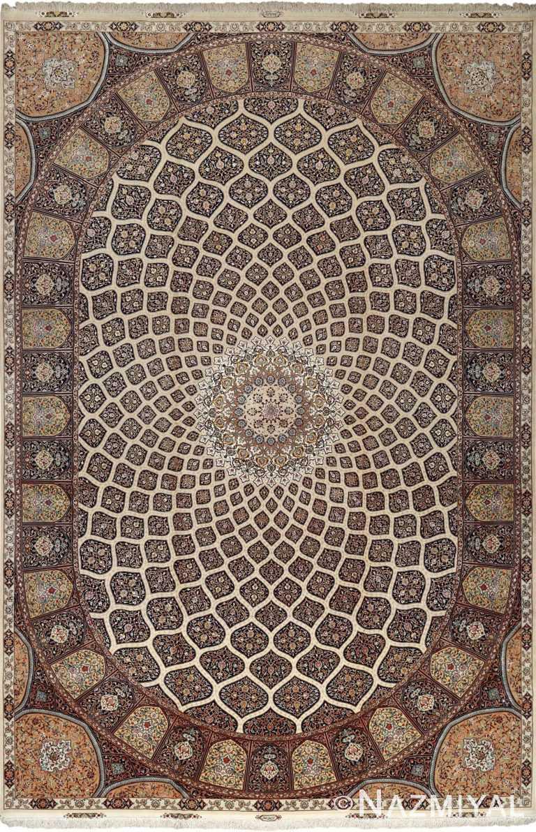 large geometric vintage tabriz persian rug 51119 Nazmiyal