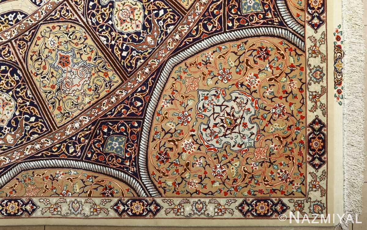large geometric vintage tabriz persian rug 51119 corner Nazmiyal