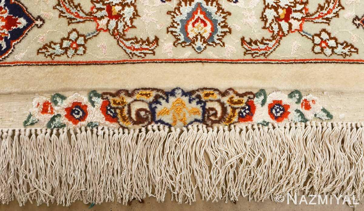 large geometric vintage tabriz persian rug 51119 fringe Nazmiyal