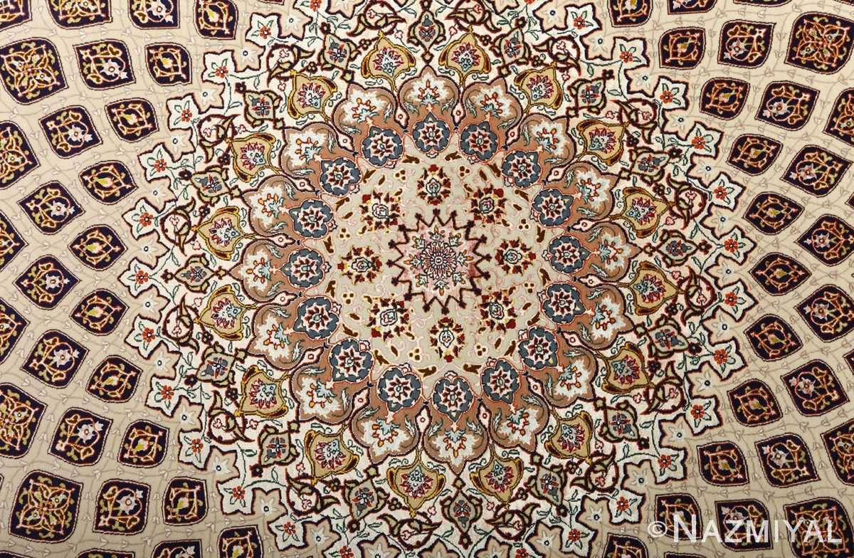 large geometric vintage tabriz persian rug 51119 medallion Nazmiyal