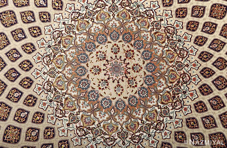 large geometric vintage tabriz persian rug 51119 medallion Nazmiyal