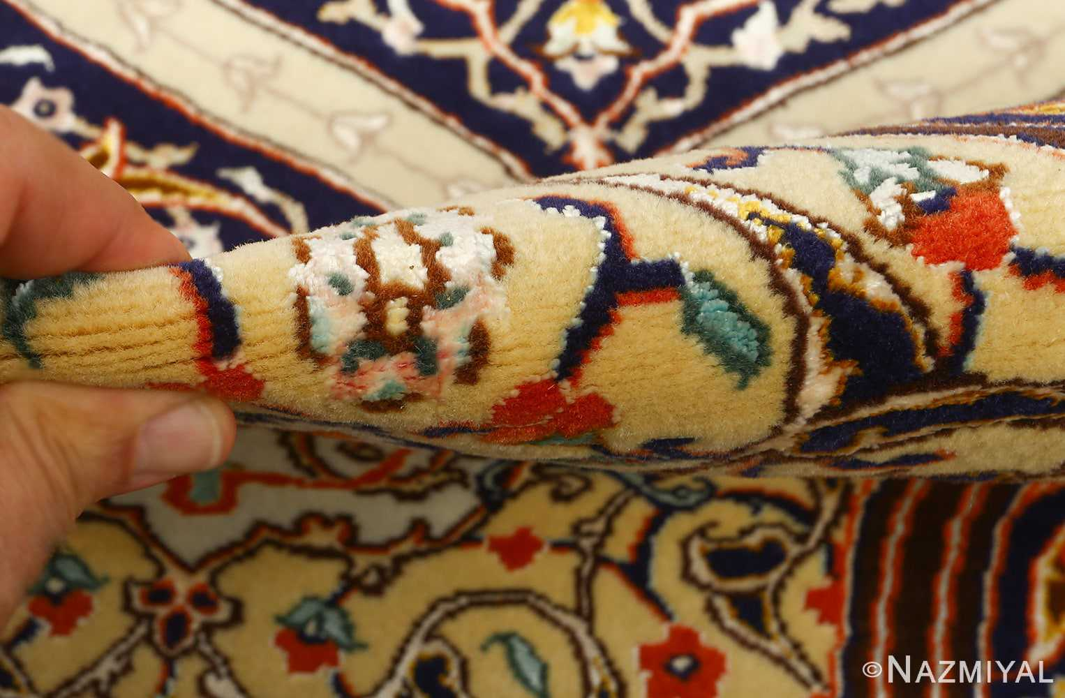 large geometric vintage tabriz persian rug 51119 pile Nazmiyal