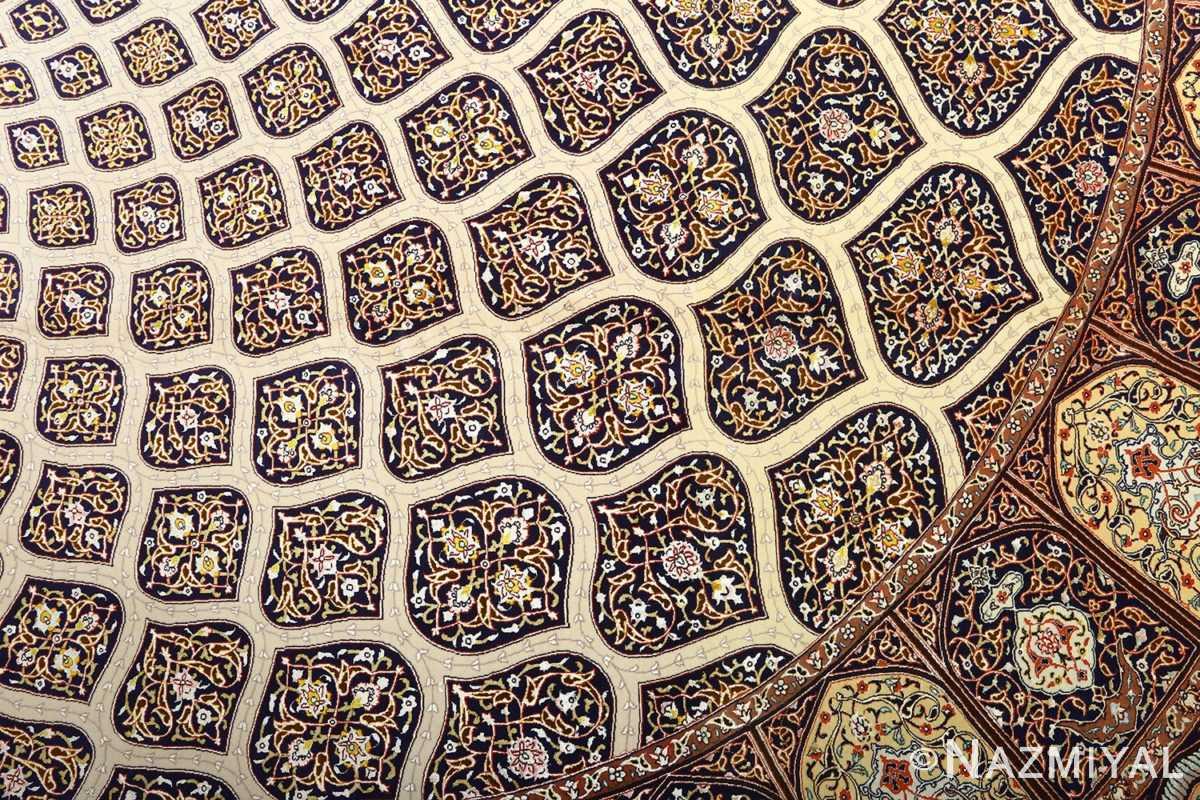 large geometric vintage tabriz persian rug 51119 slimi Nazmiyal
