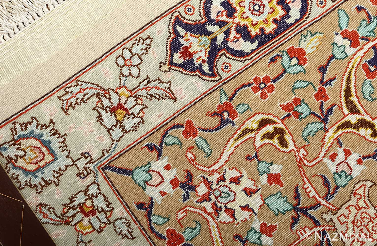 large geometric vintage tabriz persian rug 51119 weave Nazmiyal